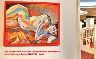 Description: Femme-Flamme_Salon-des-Artistes-Independants-Normands---2014-ROUEN Auteur: Eugéniya Zharaya