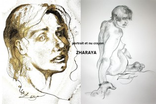Description: ZHARAYA_portrait-et-nu-crayon Auteur: Eugéniya Zharaya